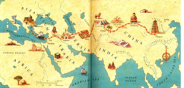 The Silk Route mapped out