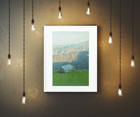 Cabin In The Mountains Wall Art Home Decor Wall Decor Wall