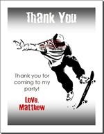 Skateboarding Birthday Party Invitations & eCards from Print Villa...personalized just for you!