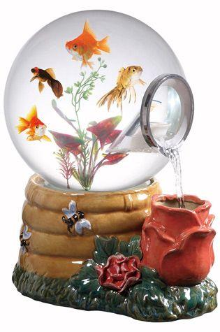 Magic Globe Honey Rose Aquarium - Snow Globe Aquarium with Waterfall Feature | COOL PET PRODUCT FOR FISH |  $125 > $69 on Amazon.com!!! | www.coolpetproducts.com