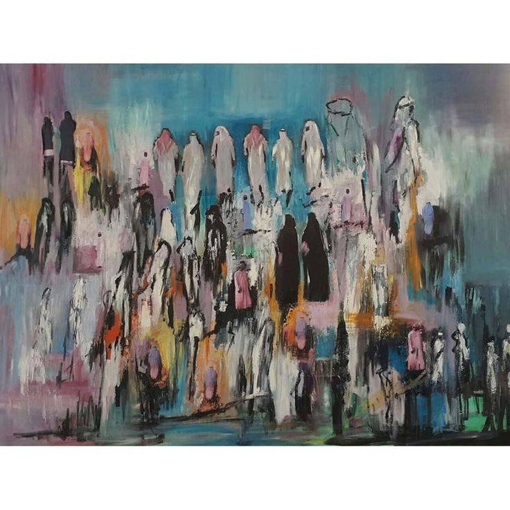 Original artwork by CATY CORDAHI  - 92 x 122 cm - Mixed media photos and oil paint with resin on canvas - 2016  Ships stretched in UAE or rolled internationally  For inquiries please call +971.55.269.0.289 or email us at info@MondaGallery.com