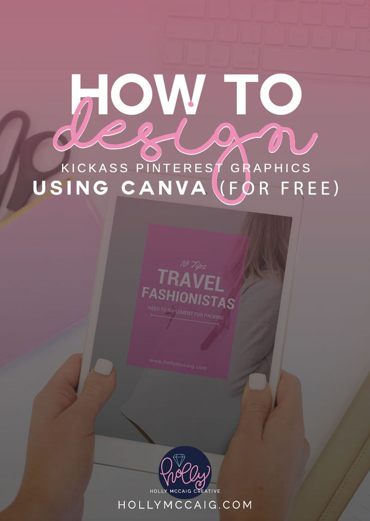 How to Design Kickass Pinterest Graphics Using Canva for FREE! Check out this video tutorial to show you how to make beautiful images for your blog to be shared virally all over Pinterest! And, get some FREE stock photos from my library!