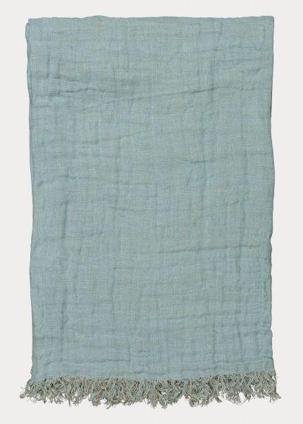 Kadhi Throw – Dusty Turquoise   Living Room   Throws   Linum
