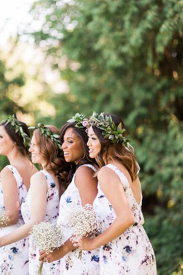 Bridesmaids - Show Me Your Mumu Wedding Collection. Photo from Jess & Francis collection by 1486 Photography