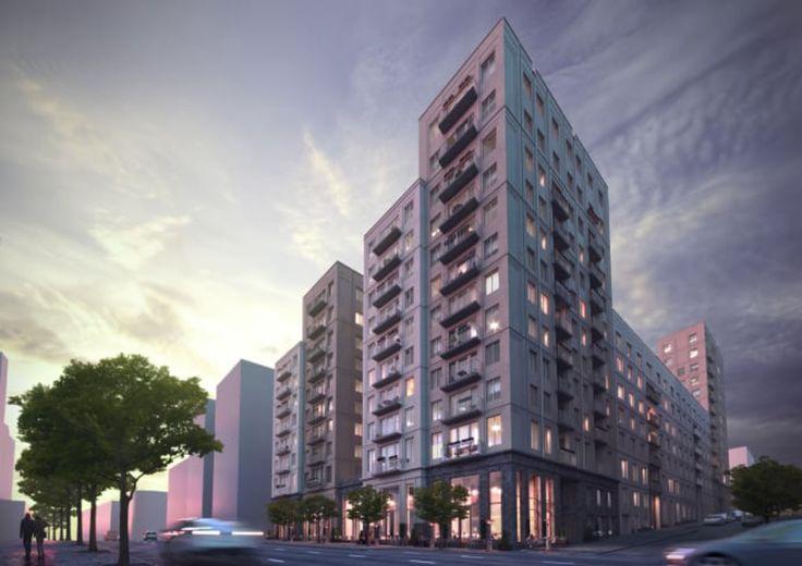 Veidekke bygger fastigheter med plats åt 205 lägenheter samt förskola, garage, lokaler och butiker i Hagastaden i Stockholm.