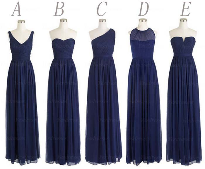 navy blue bridesmaid dresses long bridesmaid dress by Yesdresses, $119.00