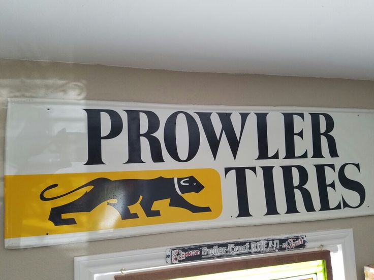 Hard to find prowler tires sign 1960s tin new old stock