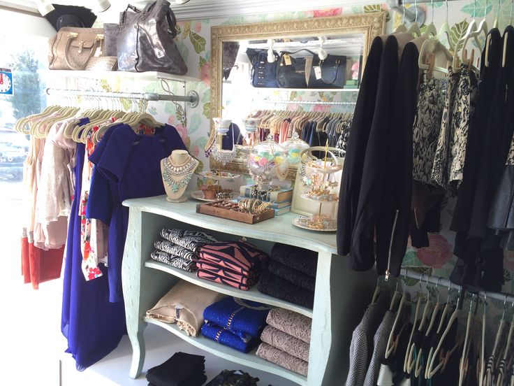 The interior layout of My Rolling Closet - The mobile fashion boutique in Dallas, TX