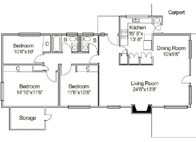 Terrace Oak Neighborhood: 3 Bedroom Home
