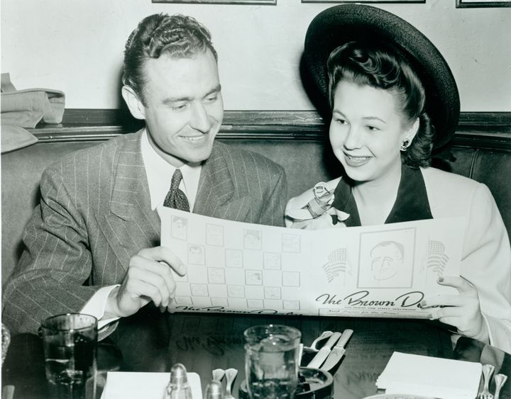 Jane Withers At The Brown Derby In Hollywood