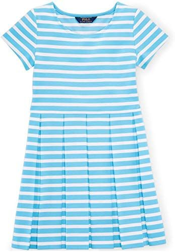 Buy Ralph Lauren Girls Striped Fit-And-Flare Dress online