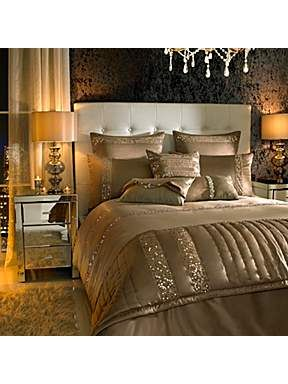 Kylie Minogue Safia super king duvet cover caramel - House of Fraser