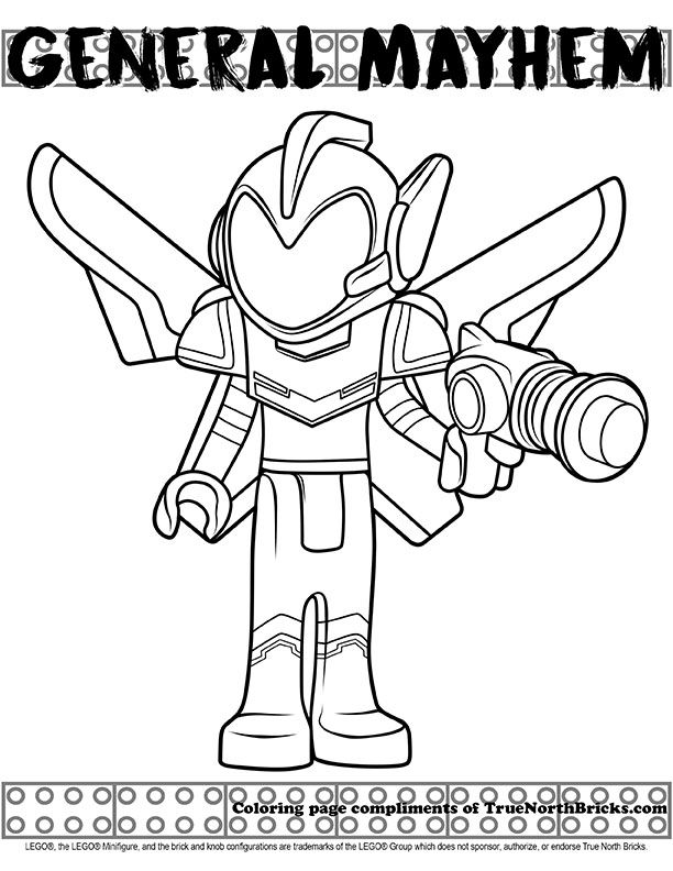 Coloring Page General Mayhem Lego Movie Coloring Pages Lego