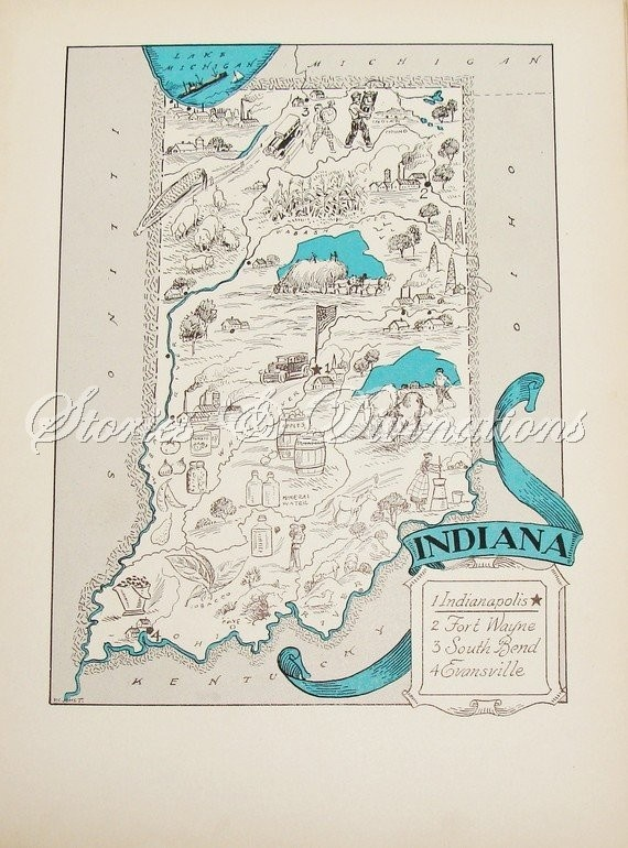 Best Indiana Images On Pinterest Indiana Indiana State And - South bend indiana map