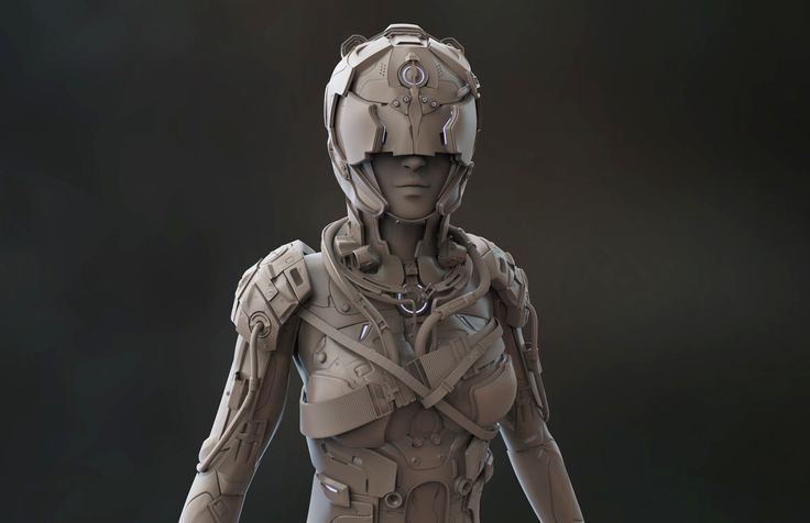 ArtStation - Female Suit (Clay) , Maymoun Cro