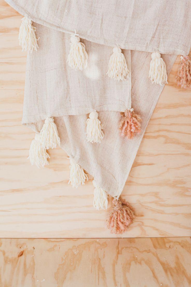 Ikea Hack // DIY Pom Pom Blanket