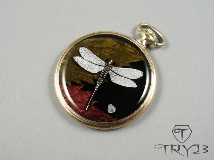 Steampunk dragonfly of watch parts. #handmade #dragonfly #steampunk #clockwork #pendant #tryb #jewelry