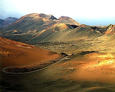 Timanfaya National Park, Lanzarote, Spain.