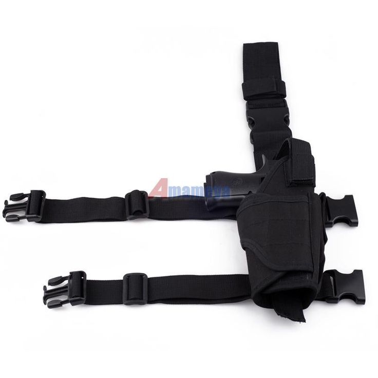 $12***Adjustable Tactical Pistol/Gun Drop Leg Thigh Holster w/ Mag Pouch Right Black #Thigh