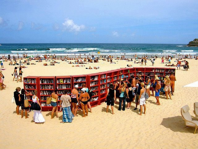 Plaj Kütüphanesi - Bondi Plajı, New South Wales - Avustralya