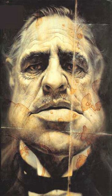 sebastian kruger -  Caricatura de Marlon Brando, El Padrino (The Godfather)