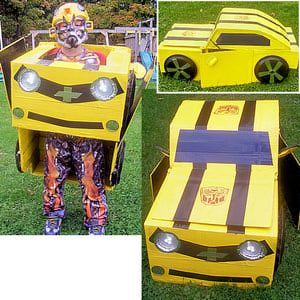 Cardboard Box Costumes Photo Gallery: Bumblebee Transformer Costume