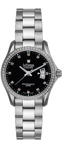 Le Temps Damenuhr, Edelstahl, Swarovski-Kristalle | Your #1 Source for Watches and Accessories