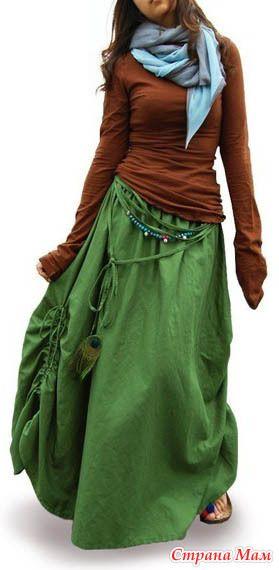 Основа для юбки бохо и варианты моделирования - Мой любимый бохо стиль (и не только он) - Страна Мам