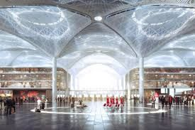 New Istanbul Airport, terminal interior designed by Grimshaw Architects