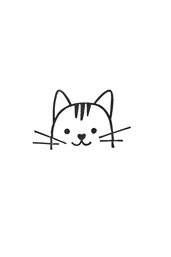 Katze-Stempel, bester Freund Geschenk, Unterschrift Stempel, Bookplate Stempel, Hand geschnitzte Stempel, Tier Stempel, bester Kumpel