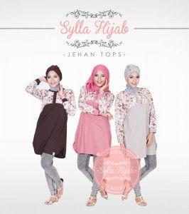 baju blouse muslim atasan jehan tops dari sylla hijab yang modis,modern dan trendy. http://distromuslimah.net/baju-atasan-blouse-muslim-jehan-tops-sylla-hijab/