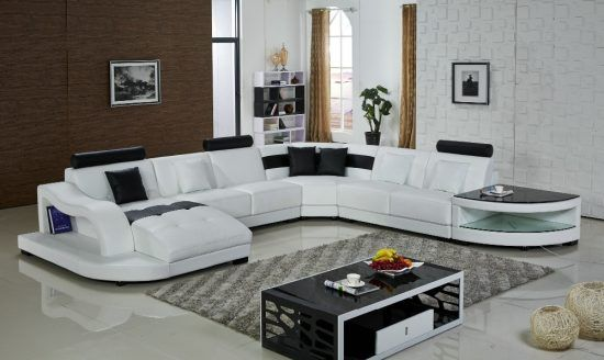 Waves Contemporary Leather Sectional by Scene Furniture - SKU No ...