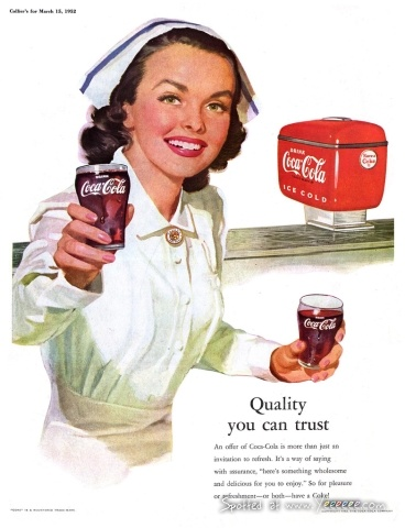 """Coke- """"Quality you can trust."""""""