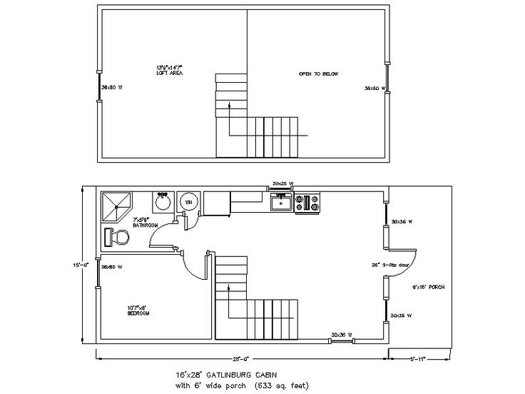 14 x 40 floor plans with loft 28 x 36 cabin plans http for 14 x 40 house plans