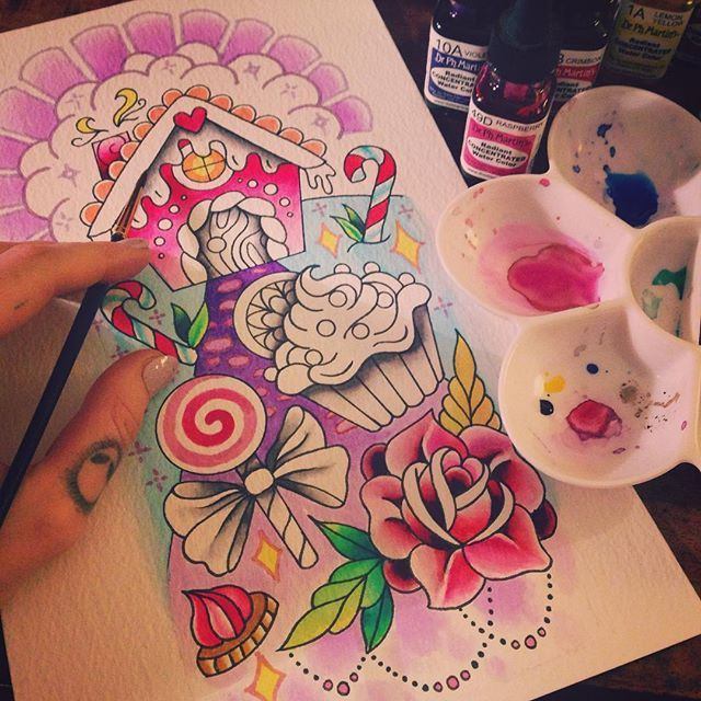 Tattoo design, painting, sketches, artwork and tattoo art BY AMY TENENBAUM…