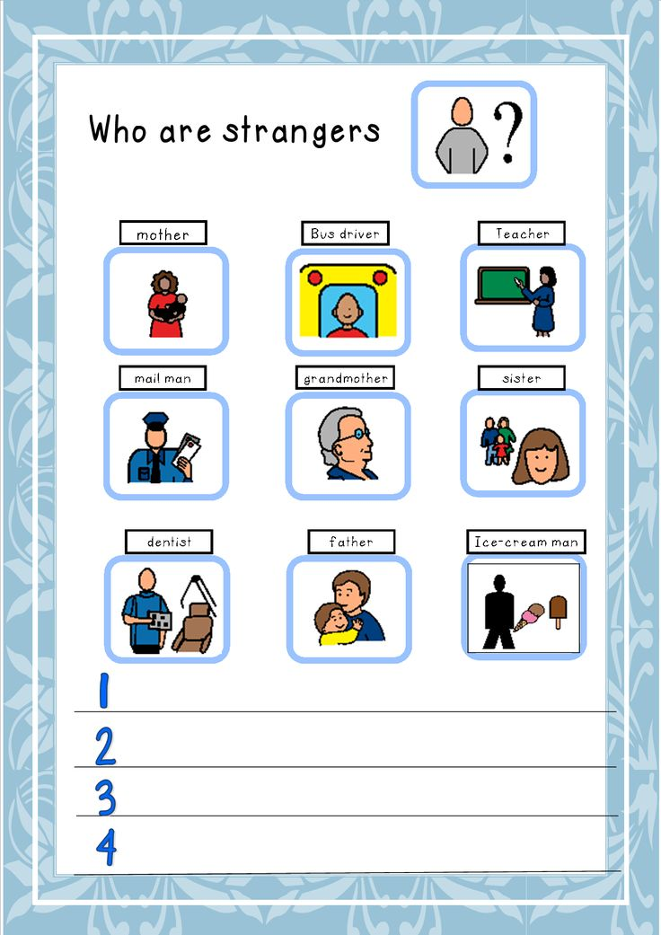 Stranger Danger Social Story.  This Social story is a small book highlighting the danger of strangers and what not to do.  A Stranger Danger work sheet is part of this unit.  These small books can be laminate for durability and read to or with your pupils.