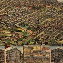 Wood's map of Portland, Oregon (1890)
