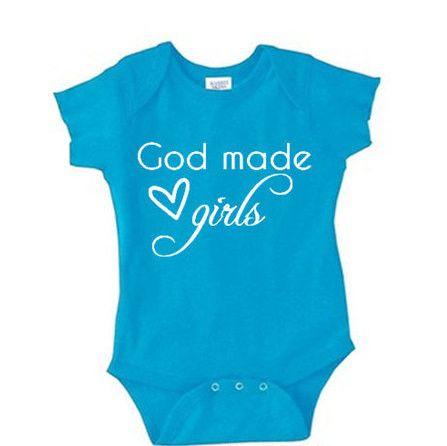 God Made Girls Baby Onesie NB - 24 Mos.