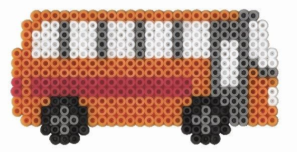 Autobus hama beads
