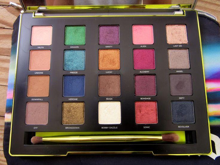 Resenha da paleta de sombras Vice 3 - Urban Decay As cores da paleta Swatch de sombras Urban Decay - Review Palette Vice Shadows 3 - Urban Decay All colors  #maquiagem #vice3 #blogdemoda