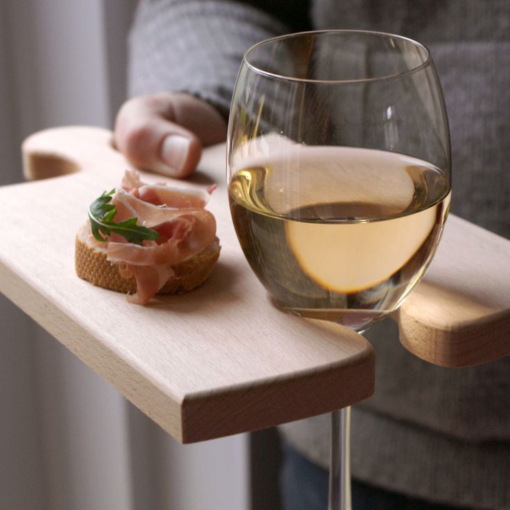 Puzzleboard wine glass holder and cutting board