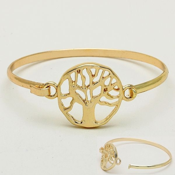 Gold Toned Tree Of Life Youth Family Protection Truth Wire Bracelet (TLB3)  #Bangle
