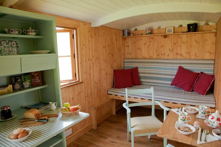 Shepherd's Hut ready for breakfast @dorsetcereals @clipperteas and all ! North Buckham Farm, Beaminster