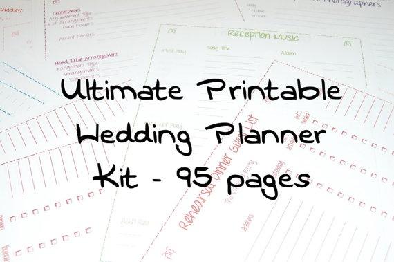 17 best Wedding planner printables images on Pinterest Free