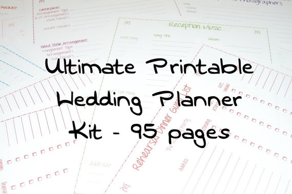 Printable Wedding Planner Binder Planning A Rustic: Printable Wedding Planner, INSTANT DOWNLOAD, Ultimate