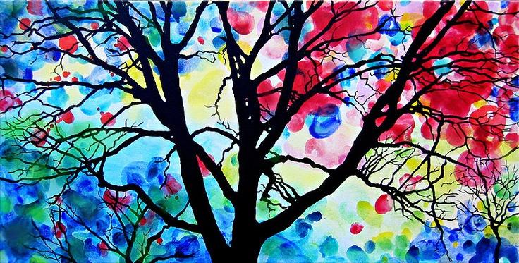 my favorite trees series by ColorinaArt
