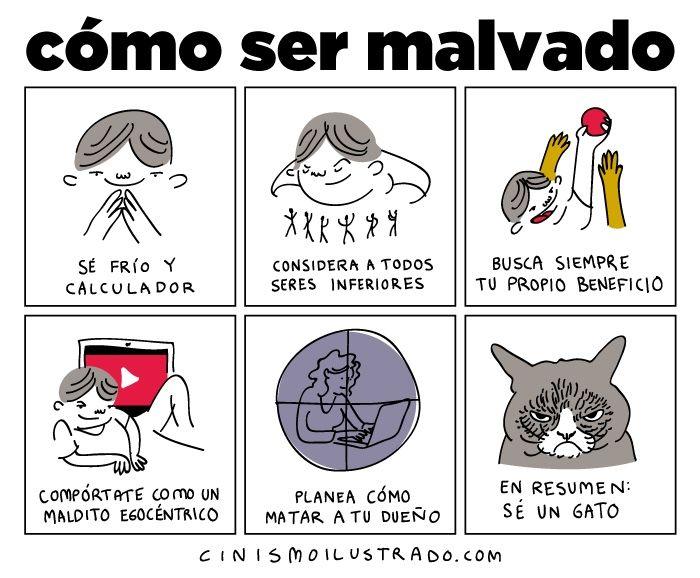 Cómo ser malvado - Cinismo Ilustrado – Las irónicas ilustraciones de Eduardo Salles