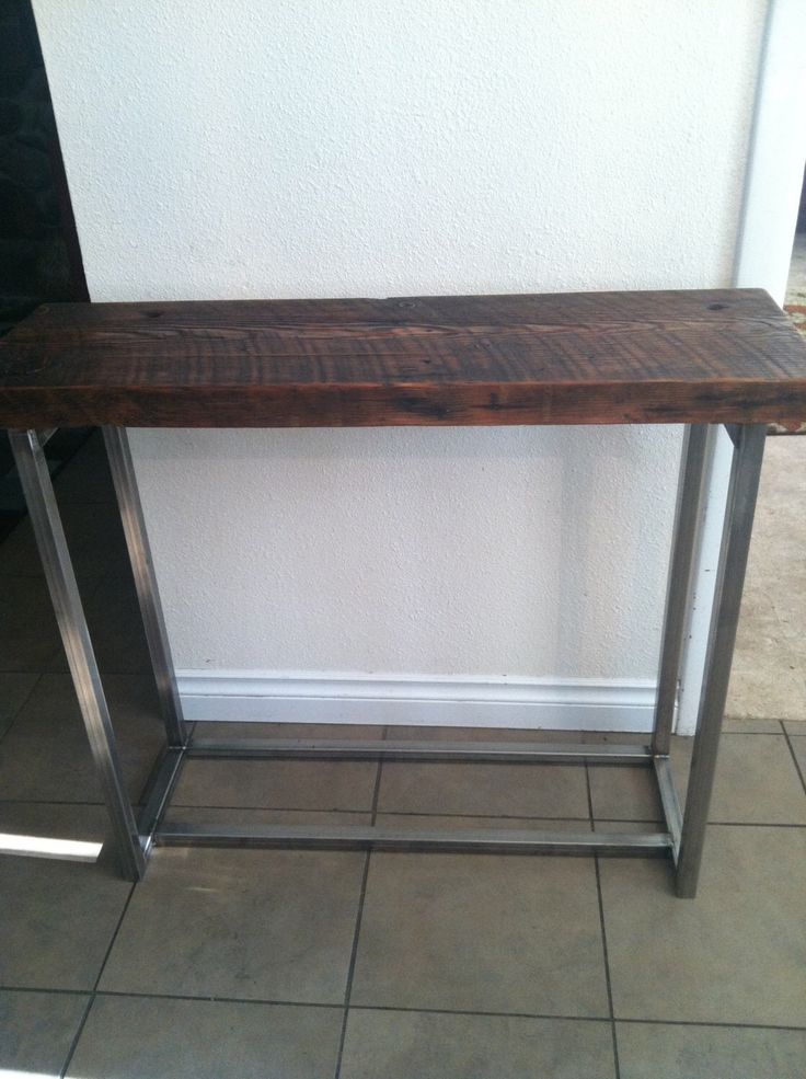Reclaimed Wood Sofa table. End table. Industrial table. Hall table. Console  table. Media table. standing shelf