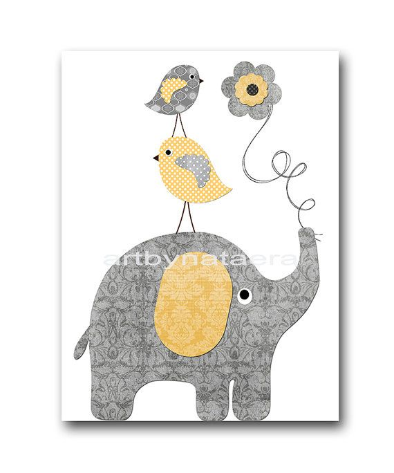 Baby Boy Nursery Art Print Childrens Wall Art Baby by artbynataera