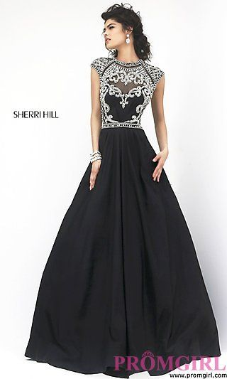 High Neck A-line Prom Dress at PromGirl.com i love this dress